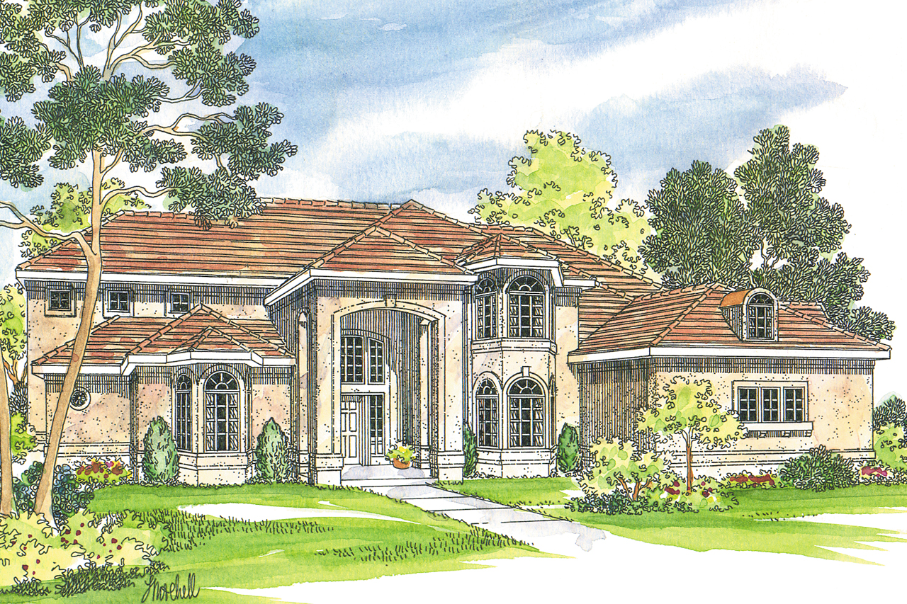 Mediterranean house plans lucardo 30 181 associated for Two story mediterranean house plans