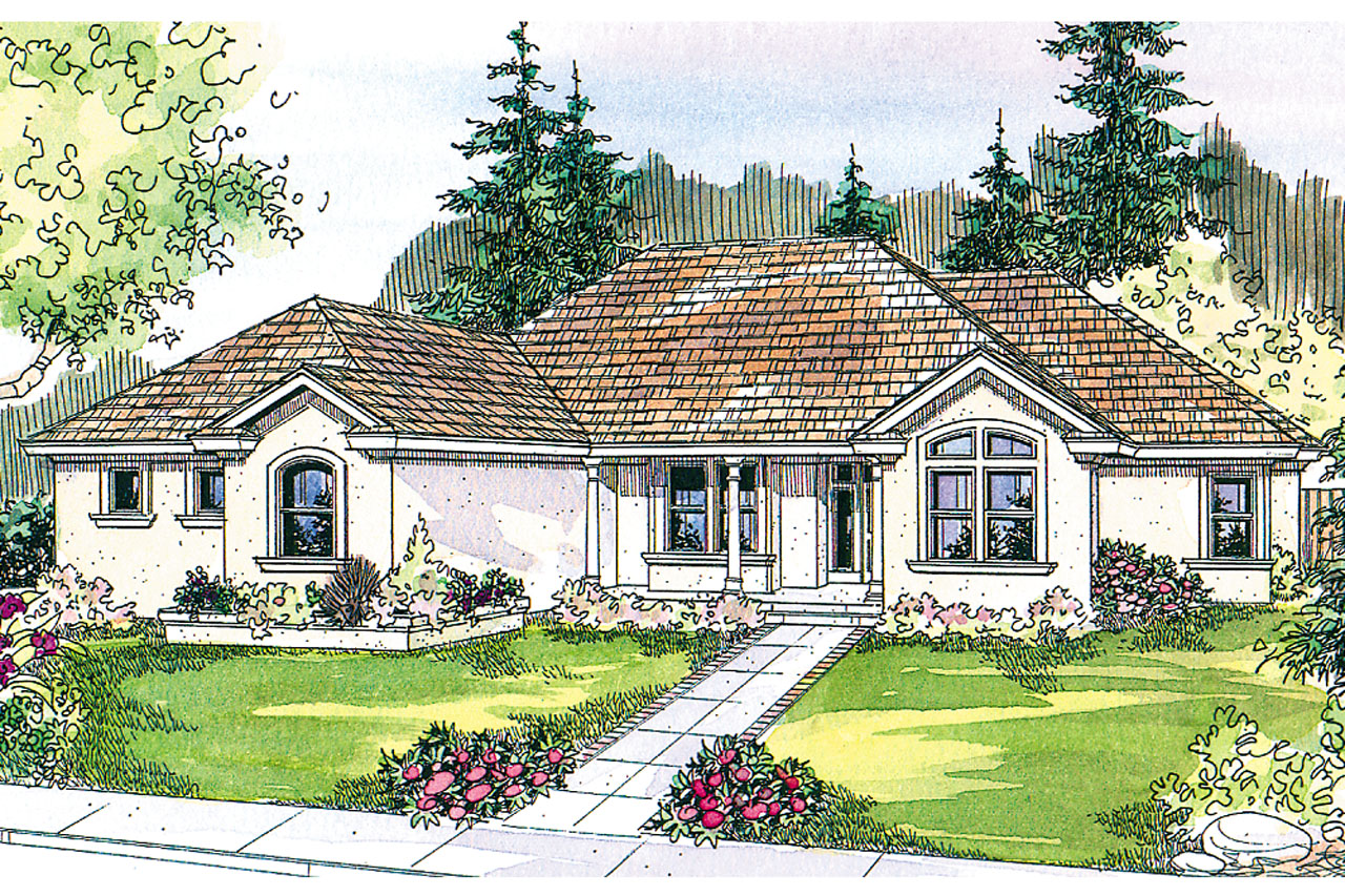 Mediterranean House Plans, Home Plans, Featured House Plan of the Week, Roselle 30-427