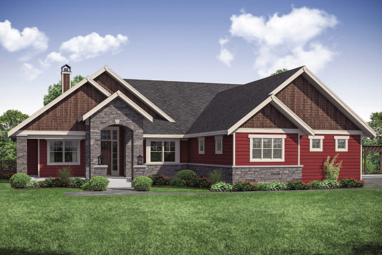 Ranch House Plan - Estes Park 31-146 - Front Exterior