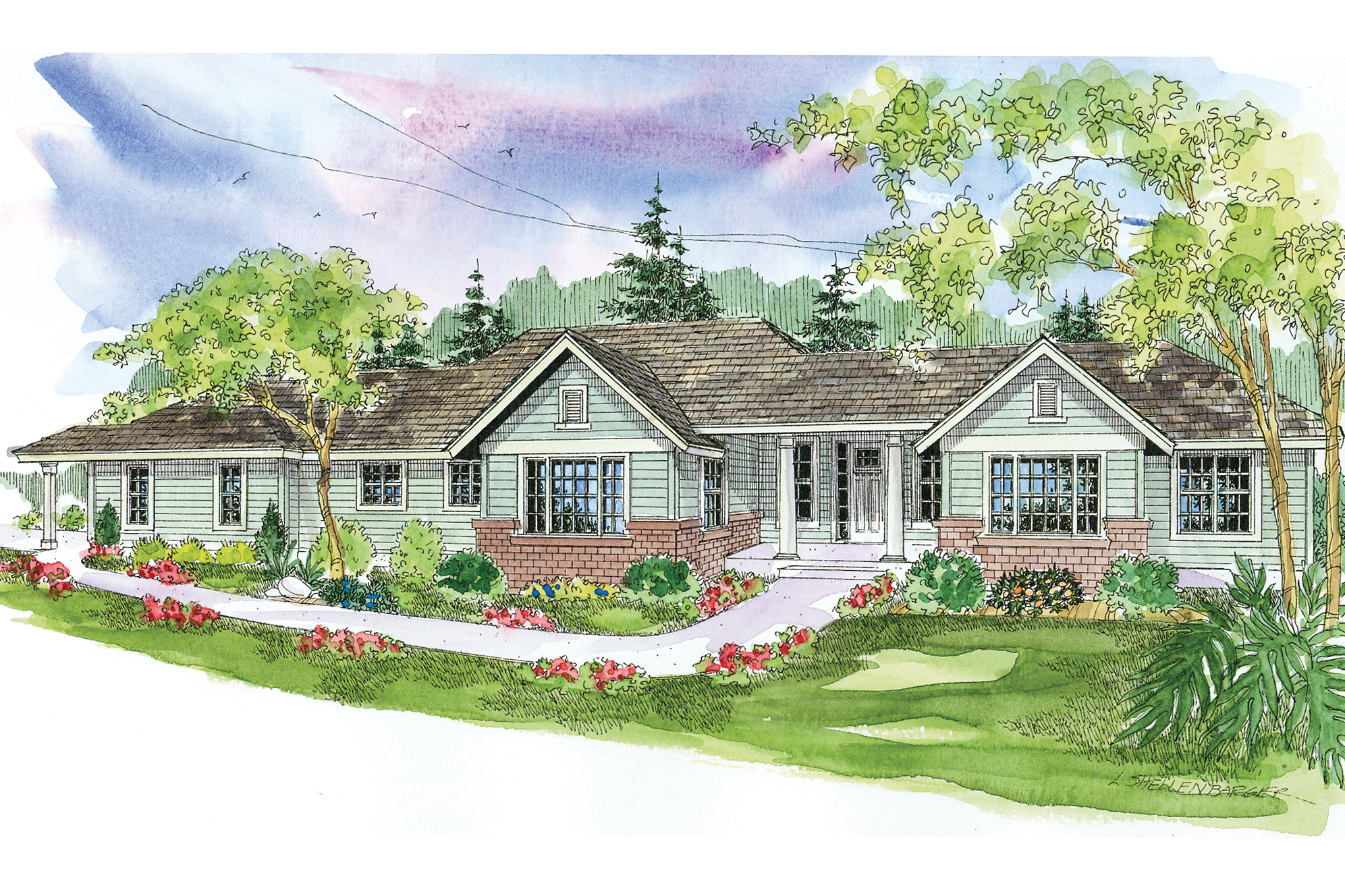 Classic Home Plans Ranch House Plans Parkdale 30 684 Associated Designs