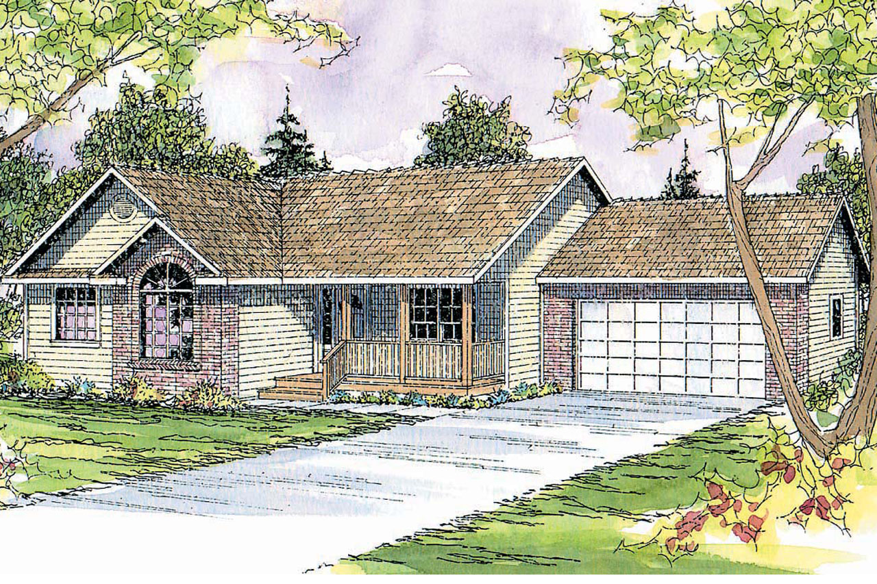 Ranch house plans rigdon 30 090 associated designs - What is a ranch house ...