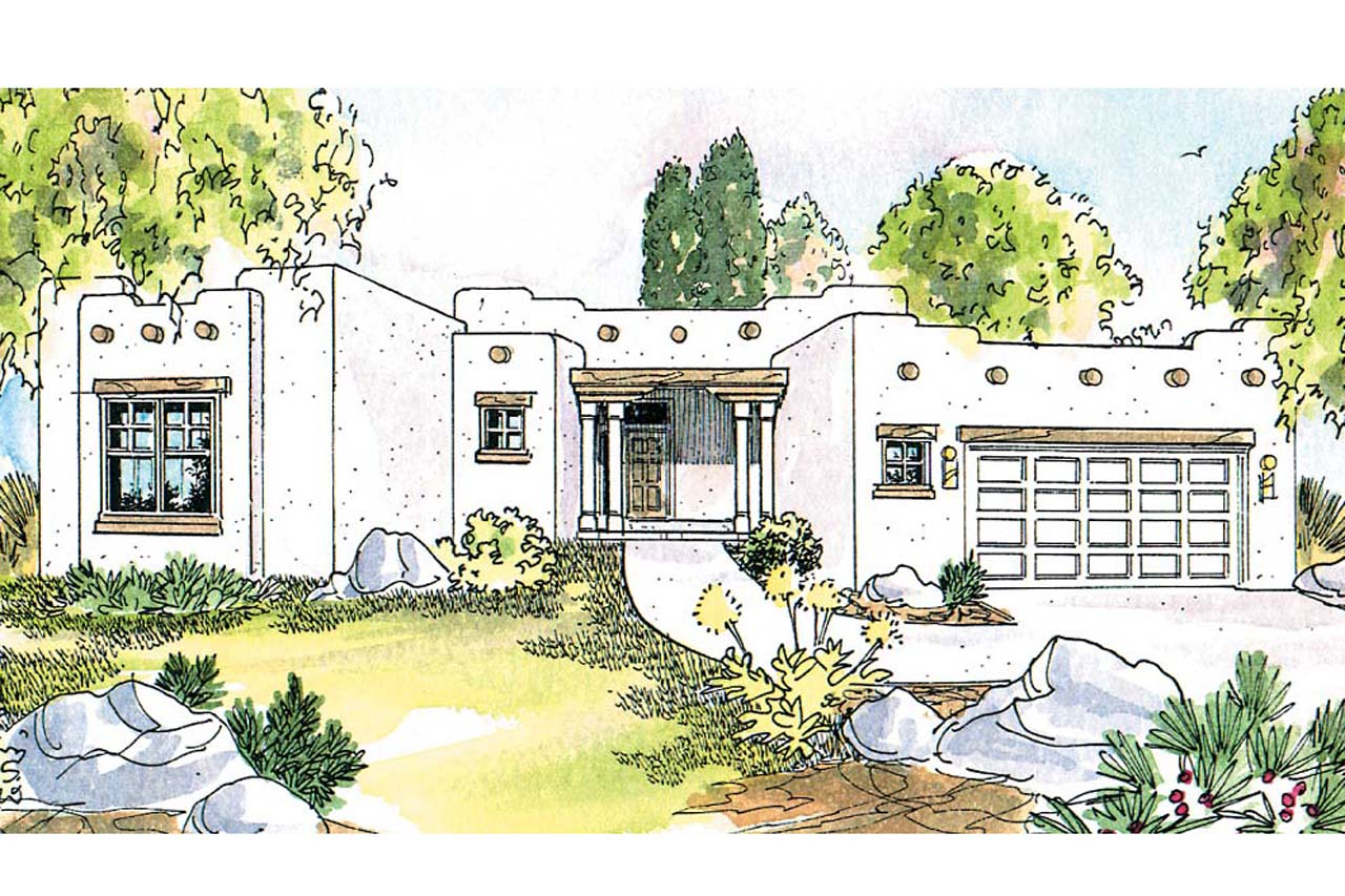 Featured House Plan of the Week, Mesa Verde 11-126, Southwest House Plan, Home Plan