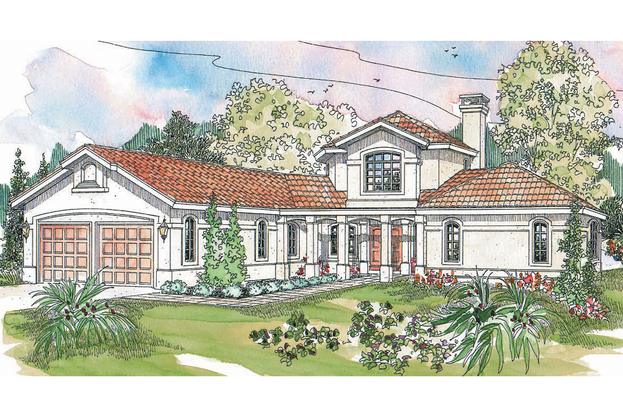 1st Floor Plan House Spanish Style House Plans Grandeza 10 136 Associated