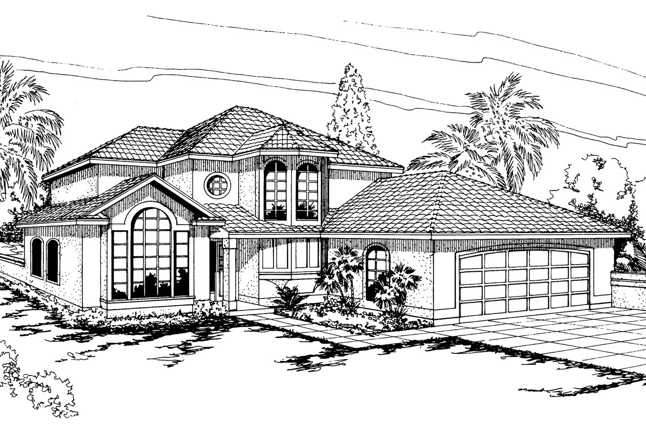 spanish style house plans - villa real 11-067