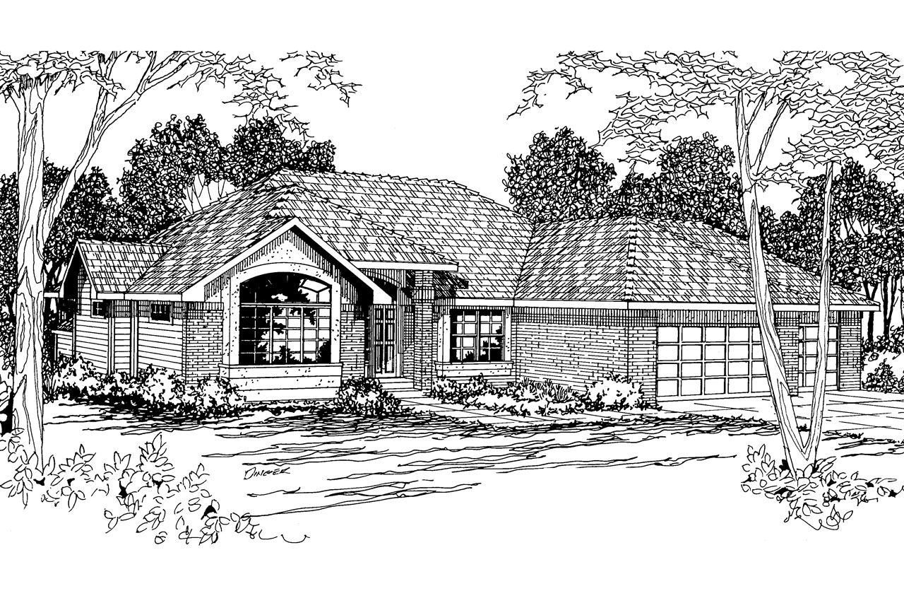 traditional_house_plan_camden_30-051_front Ranch House Brick Design on brick ranch roof designs, brick ranch landscaping ideas, brick ranch home landscaping,