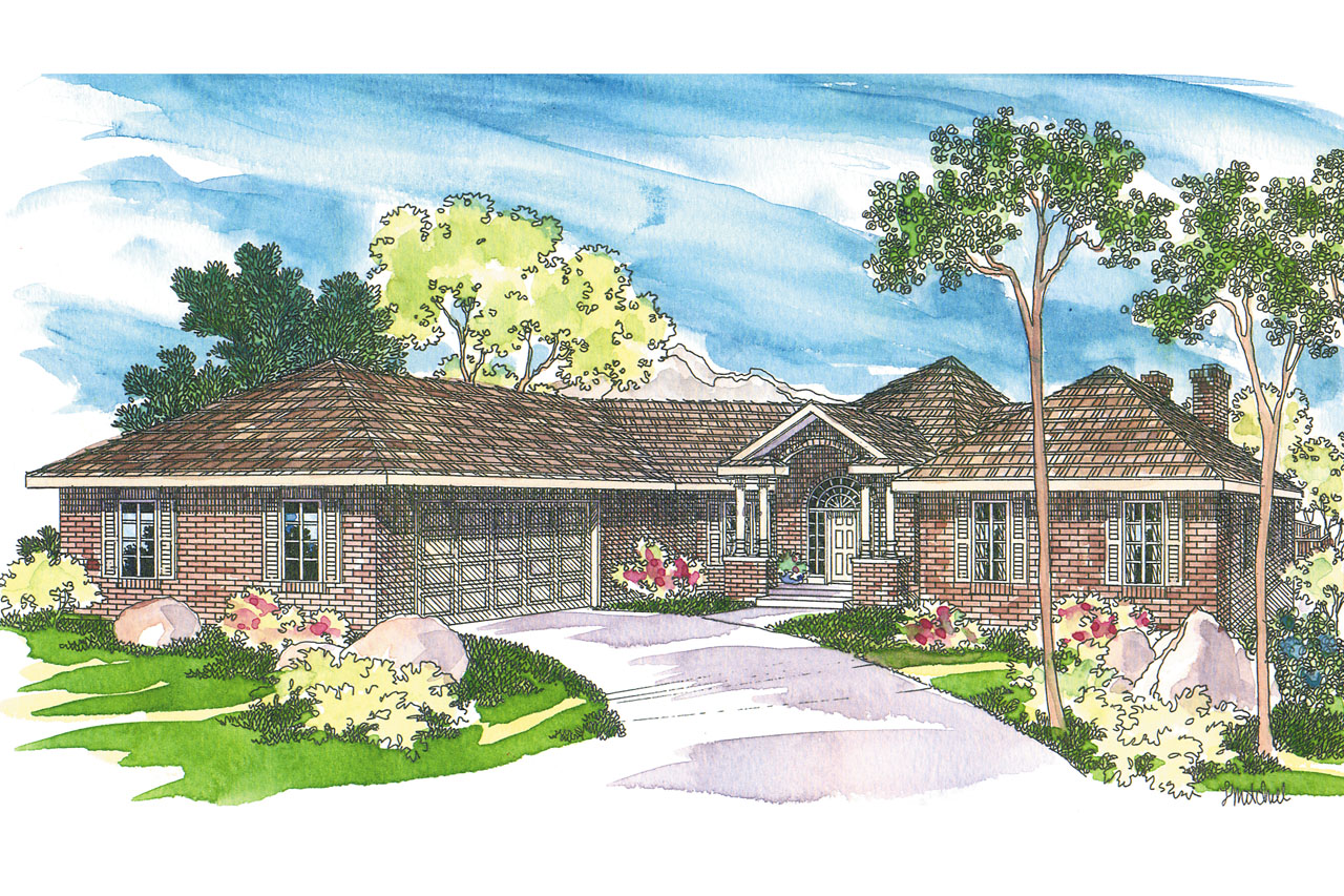 Traditional house plans linfield 10 322 associated designs - Traditional home plans and designs ...