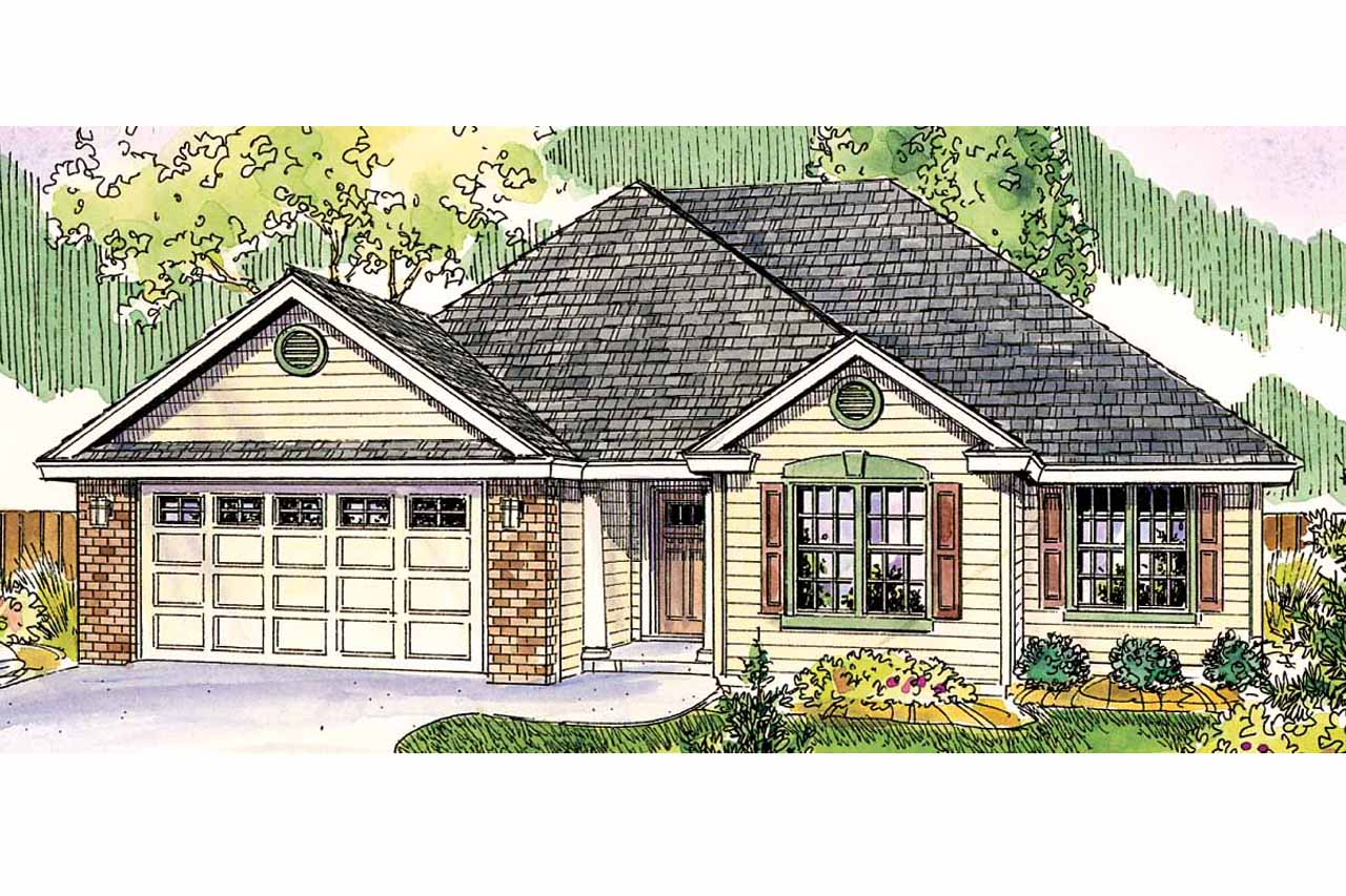 Front Elevation Of Home Plans : Traditional house plans porterville associated
