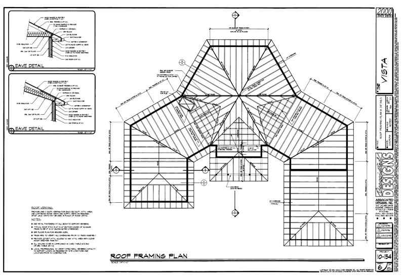 how to draw veranda roof plan
